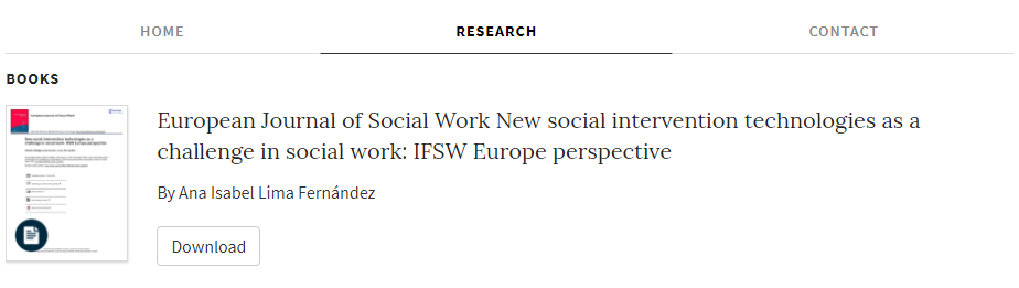 European Journal of Social Work New social intervention technologies as a challenge in social work