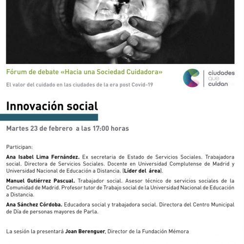 WEBINAR INNOVACIÓN SOCIAL